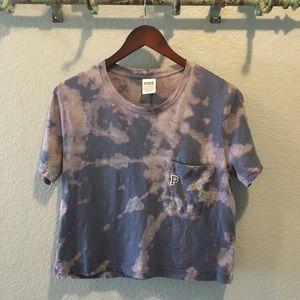 PINK Victoria Secret Women Crop Tie-Dyed T-Shirt